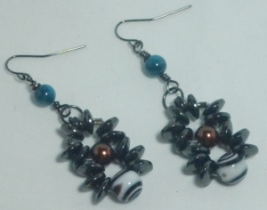 Wear these Hematite Beaded Earrings to help keep you cool, calm and focused.