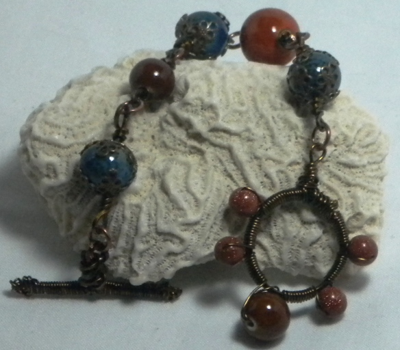 SOLD OUT - Earthy Wire Wrapped Bracelet