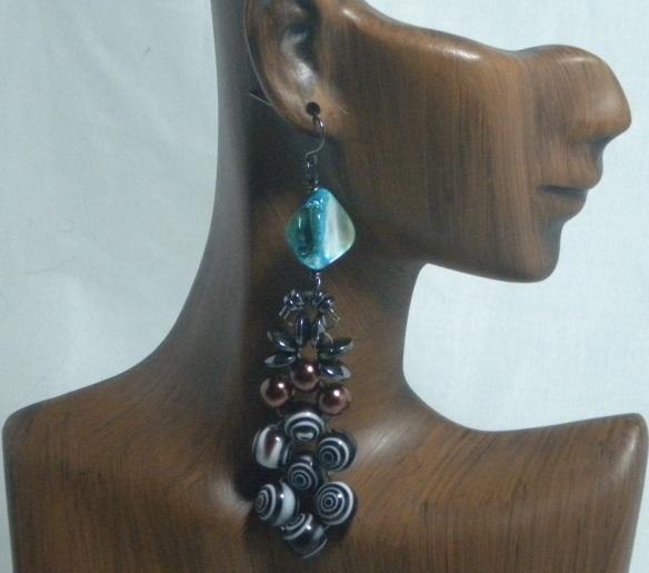 Hematite Beaded Chandelier Earrings