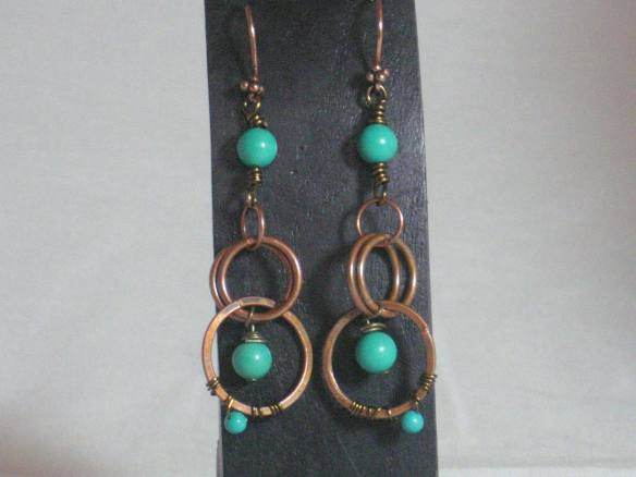 Saki bronze and Tibet turquoise combine beautifully.