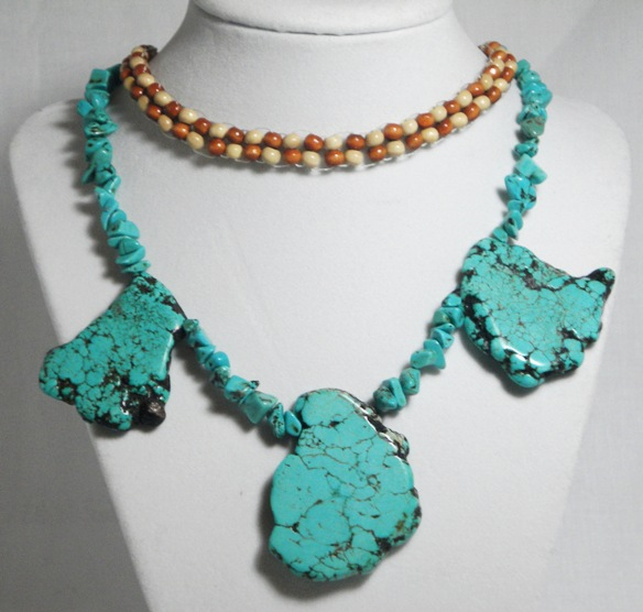 Turquoise Ladder Choker Necklace