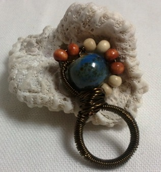 The Beaded Mountain Pinky Ring.