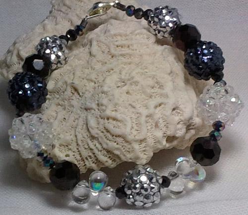 Black Tie Bling Ball Bracelet
