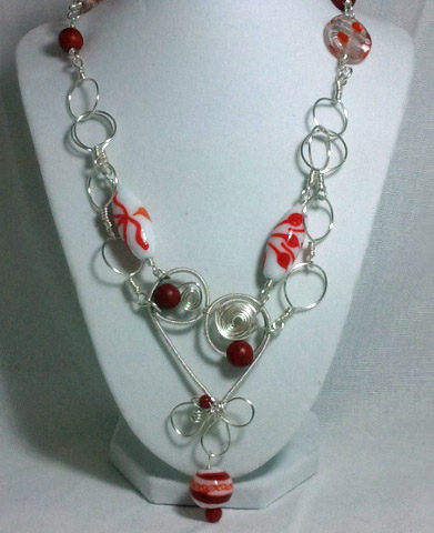 SOLD - The original Wired Infinity Heart Necklace from Junebug Jewelry Designs