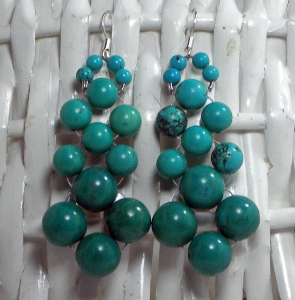 Turquoise Beaded Chandelier Earrings Vol. 2