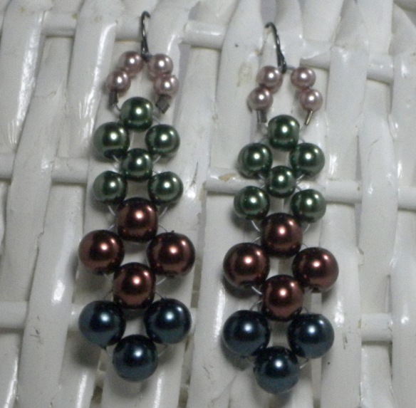 Earthy Pearls Chandelier Earrings