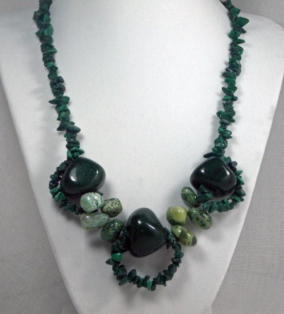 On Sale! Chunky Emerald Necklace by Junebug Jewelry Designs