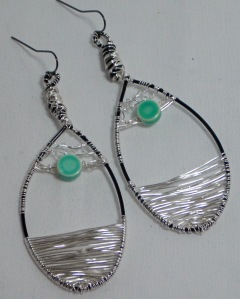 Earrings that I sold a while back that feature a wire weaving technique.