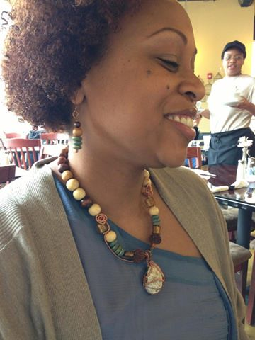 Bilenda loves her necklace, The Brain, which was one of my first wire-wrapped designs.