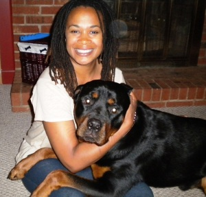 Me and my fabulous dog, Shaka Zulu Grady. :-)