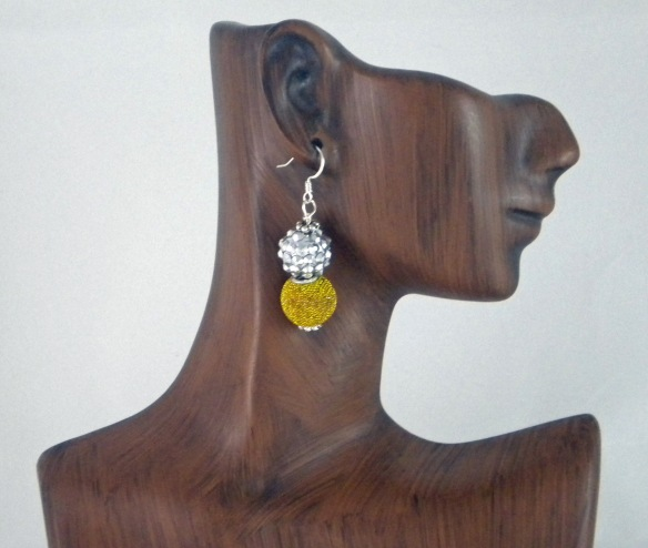 Golden Bling Earrings by Junebug Jewelry Designs