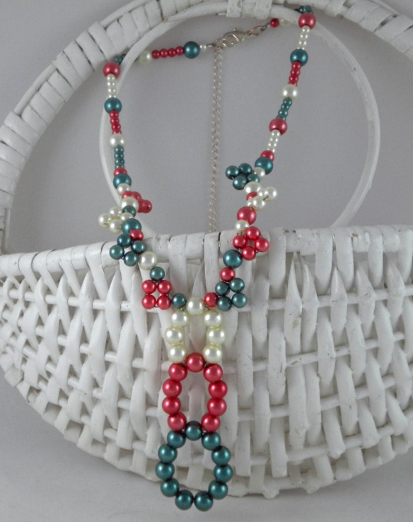 Not Your Mother's Colorful Pearl Necklace by Junebug Jewelry Designs
