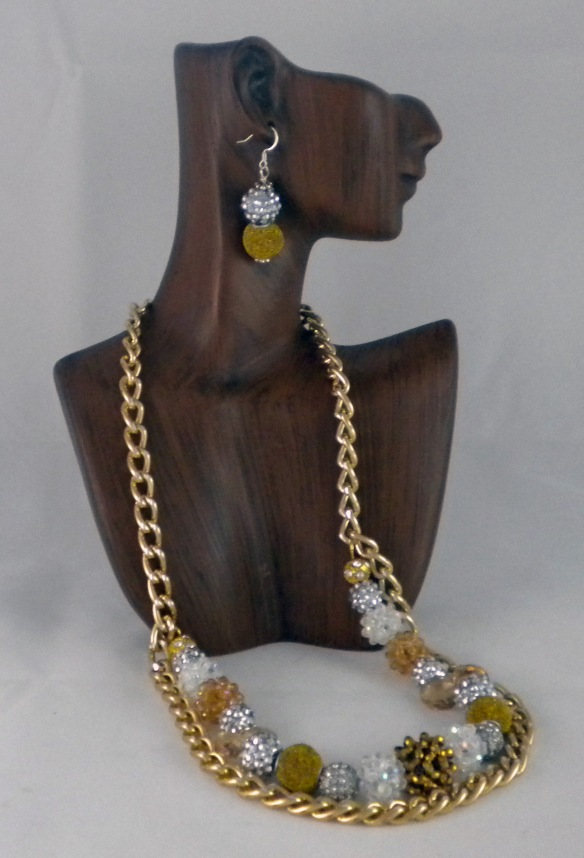 The necklace and earrings are sold separately, but they make a great pair!
