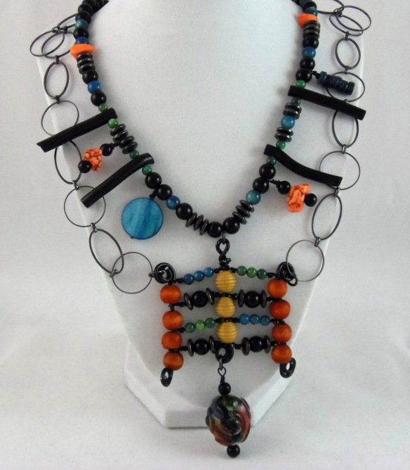The Warrior Queen Beaded Necklace by Junebug Jewelry Designs