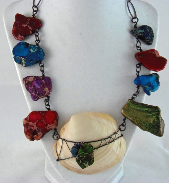 The Beach Dreams Wire Wrapped Necklace by Junebug Jewelry Designs