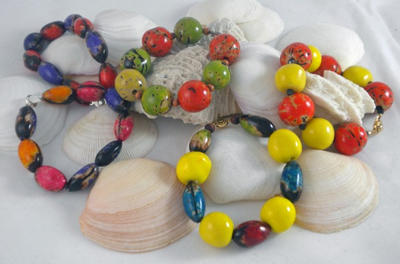 The Tagua Bead Bracelets by Junebug Jewelry Designs