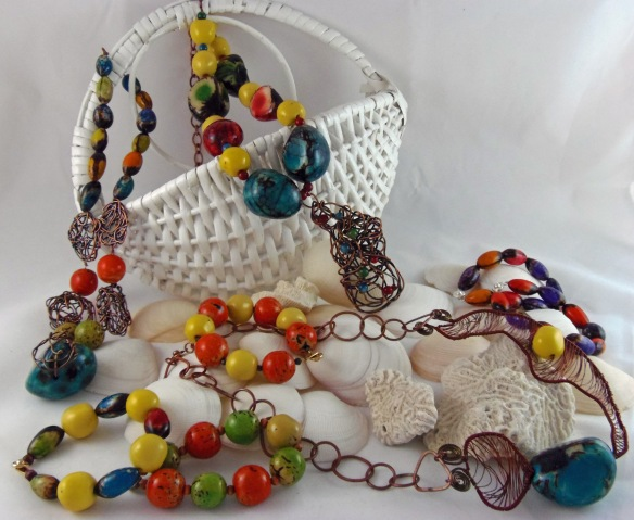 The Tagua Bead Collection from Junebug Jewelry Designs