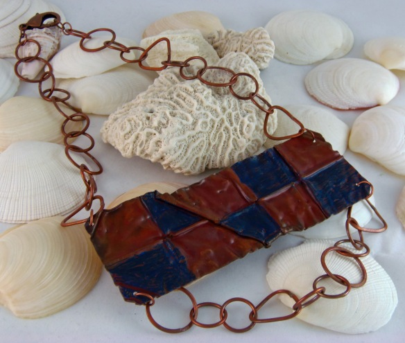 Funky Cobber Bib Statement Necklace by Junebug Jewelry Designs