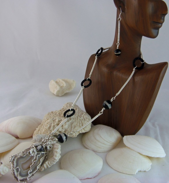 Intricate Sterling Coiled Wire Wrapped Jewelry Set by Junebug Jewelry Desgins
