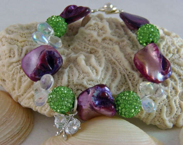 Vibrant Pave Bling Ball Charm Bracelet by Junebug Jewelry Designs
