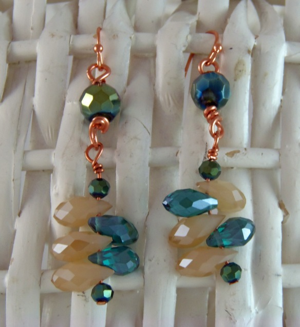 Cascading Crystal Dangle Earrings by Junebug Jewelry Designs