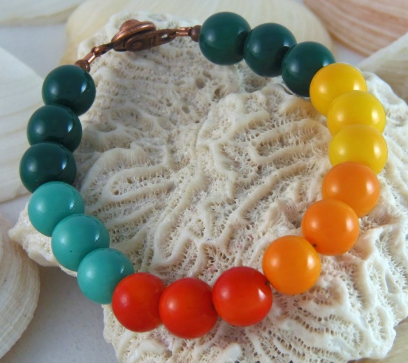 Colorful Bohochic Beaded Bracelet by Junebug Jewelry Designs on Etsy
