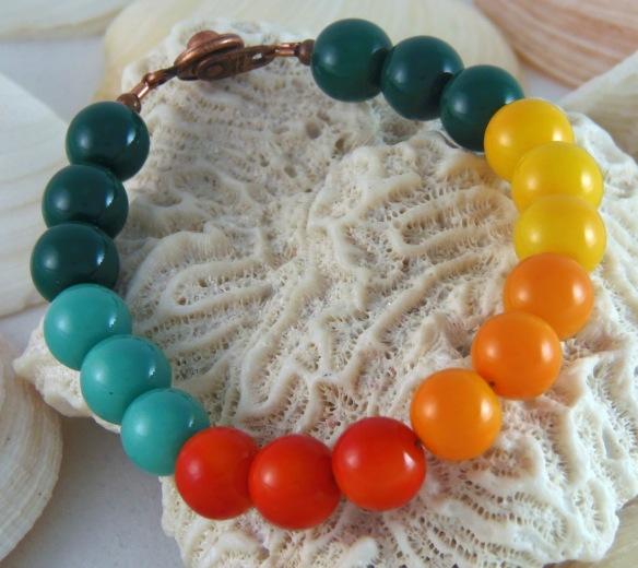 Colorful Bohochic Beaded Bracelet by Junebug Jewelry Designs on Etsy