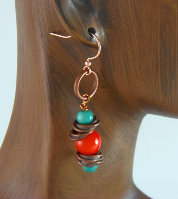 Color Splash Simple Beaded Earrings by Junebug Jewelry Designs on Etsy
