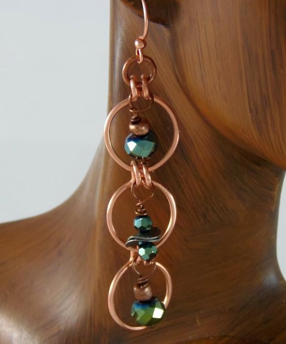 Copper Loop Earrings by Junebug Jewelry Designs on Etsy